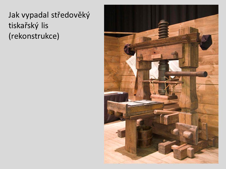 Jak vypadal středověký tiskařský lis (rekonstrukce)