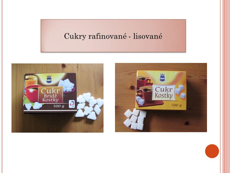 Cukry rafinované - lisované