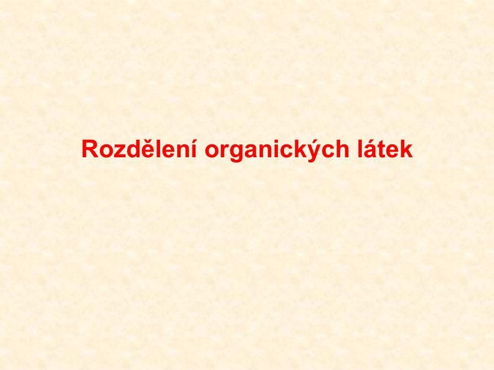 Rozdělení organických látek