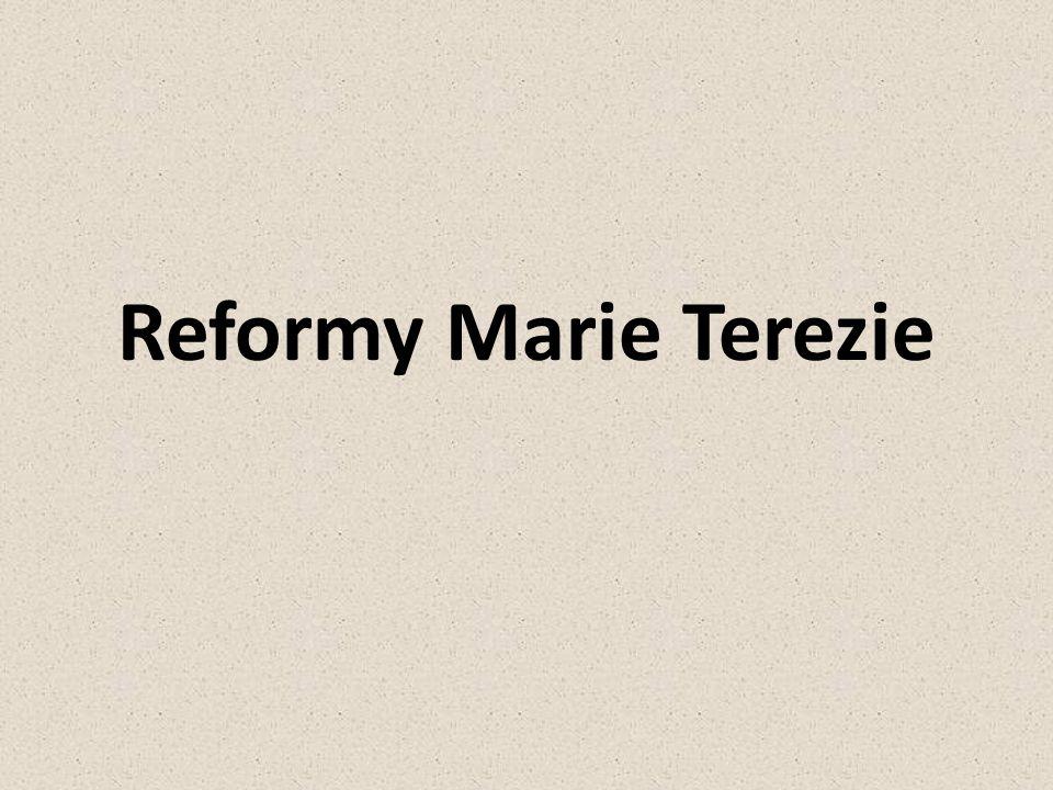 Reformy Marie Terezie