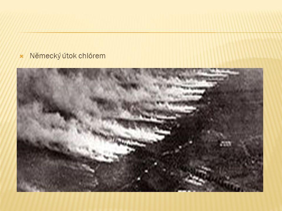  Německý útok chlórem