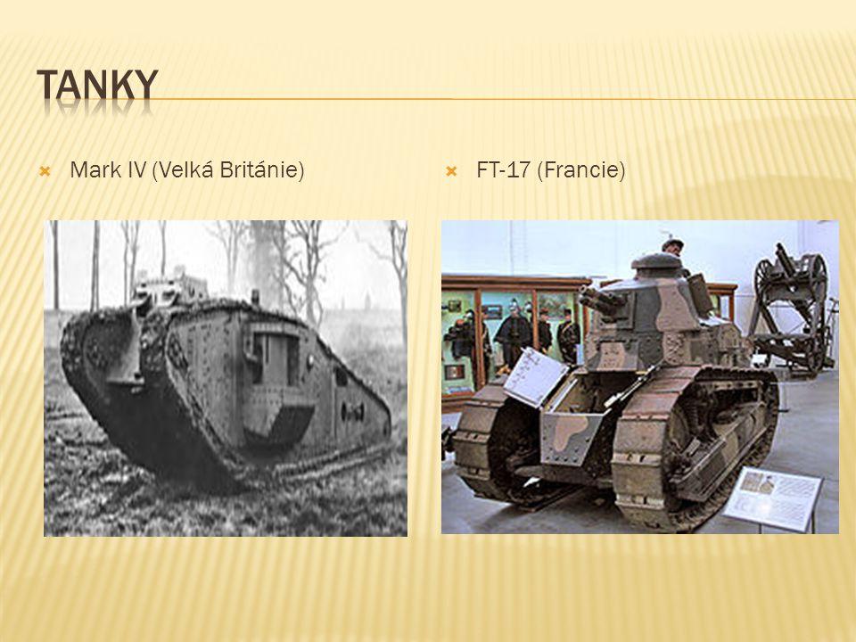  Mark IV (Velká Británie)  FT-17 (Francie)