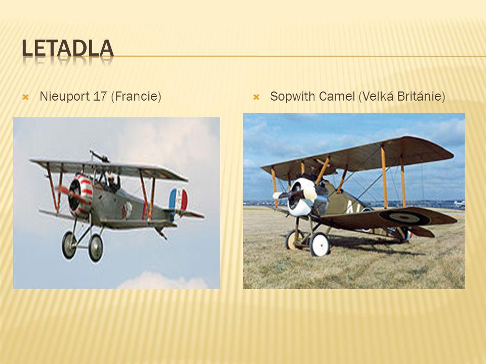  Nieuport 17 (Francie)  Sopwith Camel (Velká Británie)