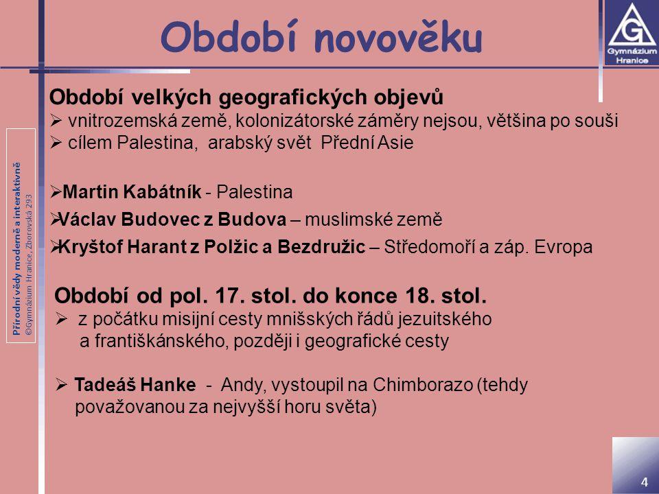 Přírodní vědy moderně a interaktivně ©Gymnázium Hranice, Zborovská 293 19.