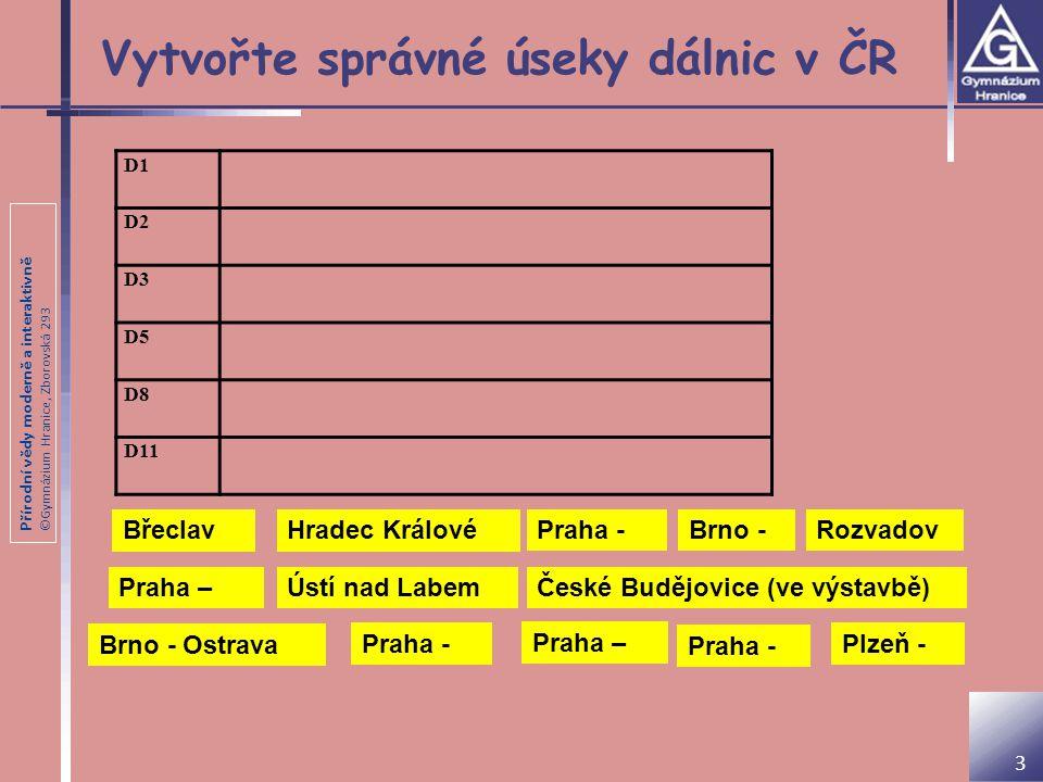 Přírodní vědy moderně a interaktivně ©Gymnázium Hranice, Zborovská 293 Zdroje Vlastní zpracování 14