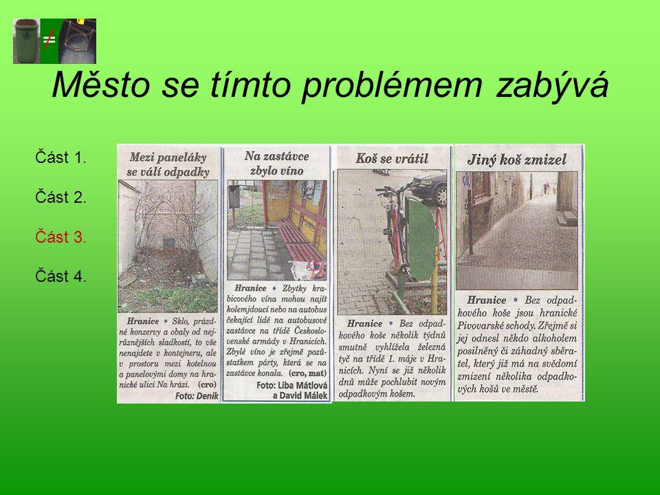 Město se tímto problémem zabývá Část 1. Část 2. Část 3. Část 4.