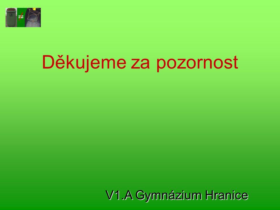 Děkujeme za pozornost V1.A Gymnázium Hranice