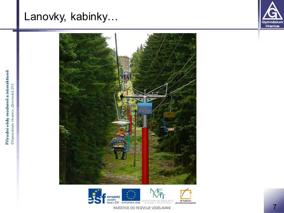 Přírodní vědy moderně a interaktivně ©Gymnázium Hranice, Zborovská 293 8 Vleky, pohyblivé pásy…