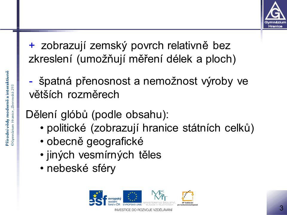 Přírodní vědy moderně a interaktivně ©Gymnázium Hranice, Zborovská 293 4