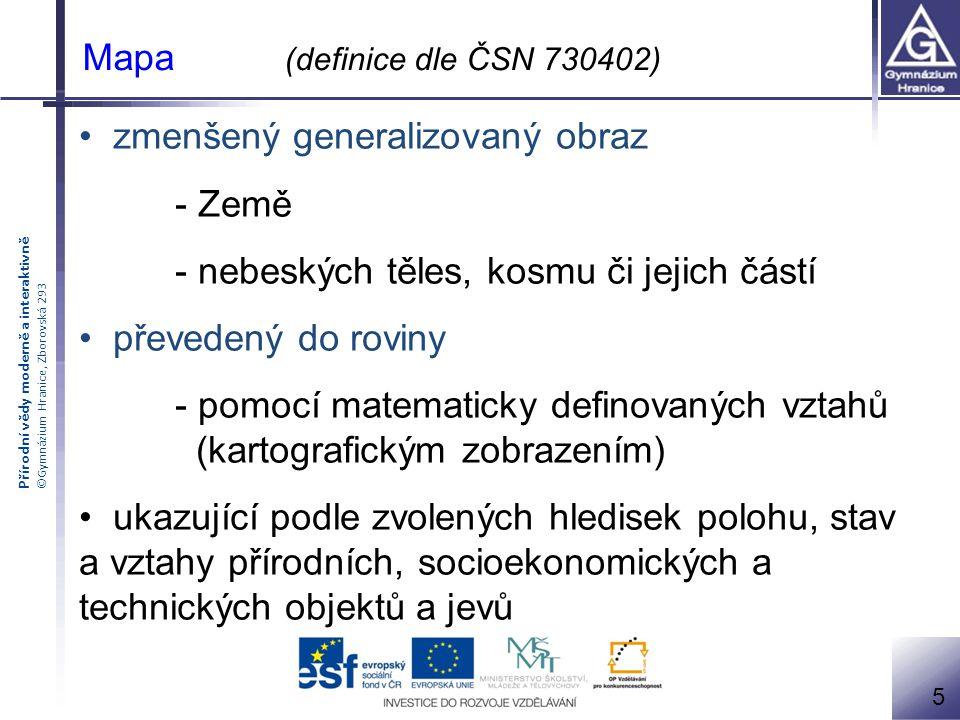 Přírodní vědy moderně a interaktivně ©Gymnázium Hranice, Zborovská 293 Měřítko grafické (základní) číselné slovní Příklady chybných (vlevo) a správných měřítek 16