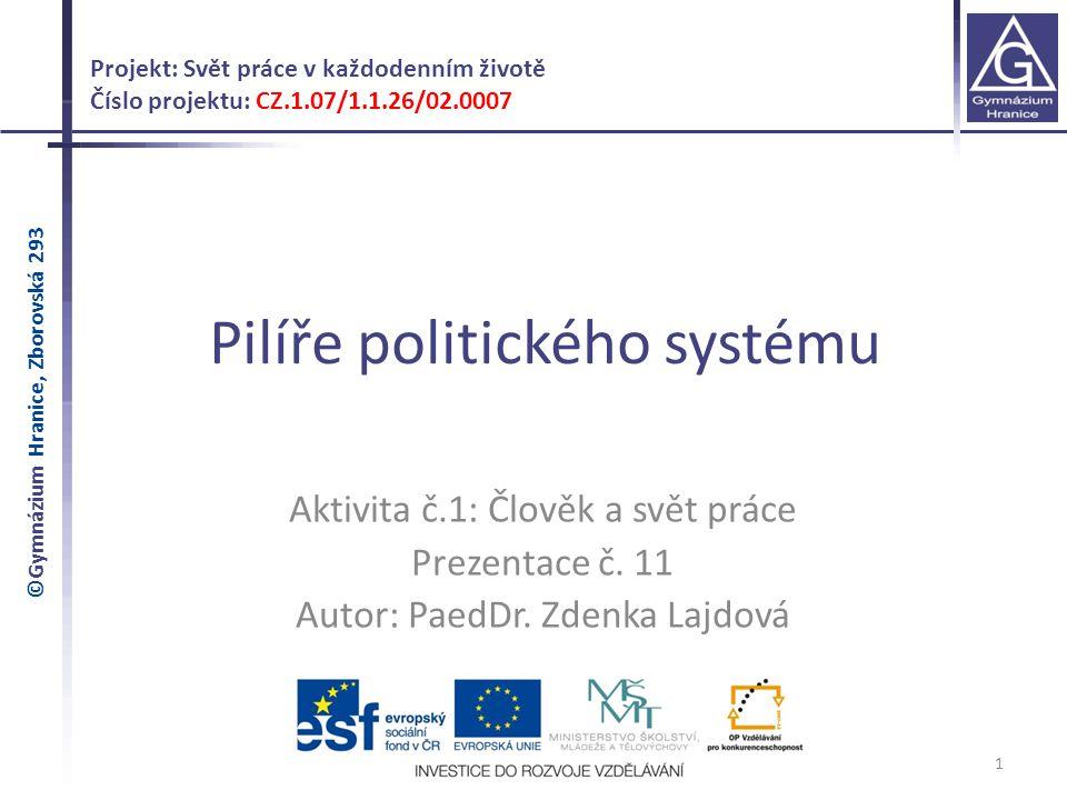 2 Ústava České republiky Hlava I – Základní ustanovení Čl.