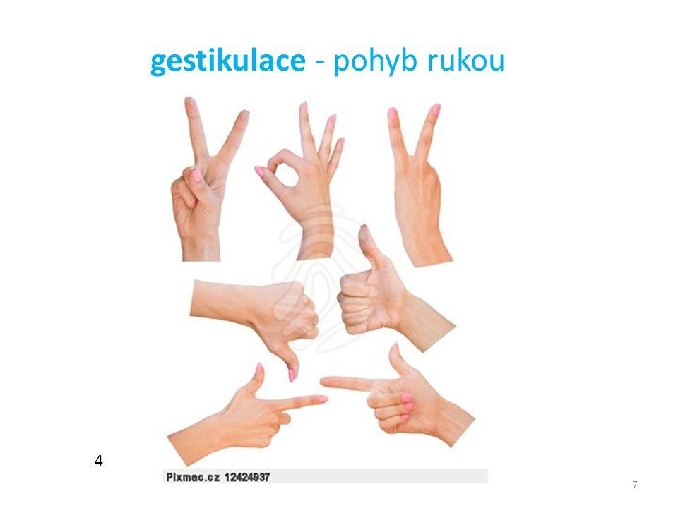 7 4 gestikulace - pohyb rukou