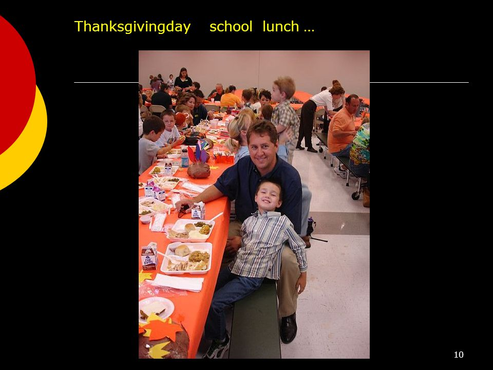 10 Thanksgivingday school lunch …