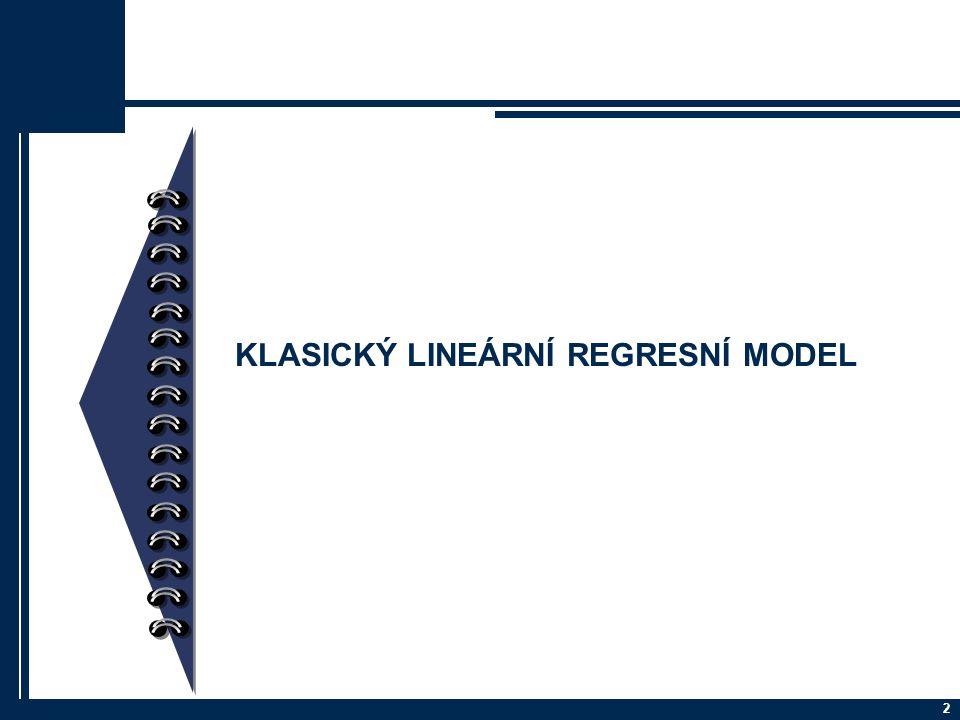 Klasický lineární regresní model (KLRM) Příklad: Určete, zda existuje závislost počtu léků, které člověk užívá, na věku.
