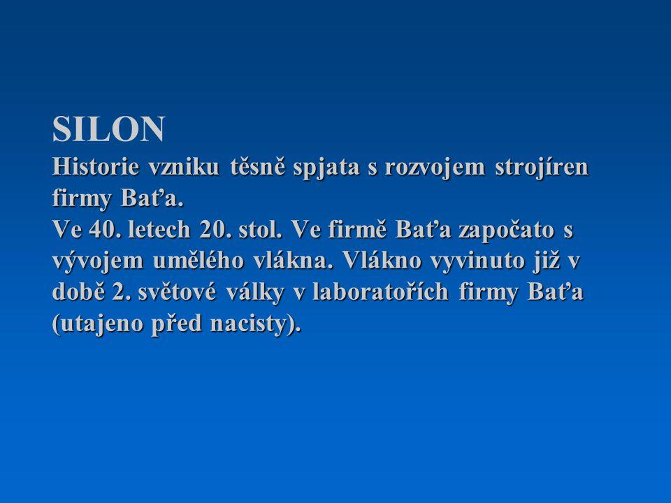 Závod na výrobu umělého vlákna vybudován v areálu firmy Baťa (Kovosvitu), pomocí jeho kapacit a odborníků.