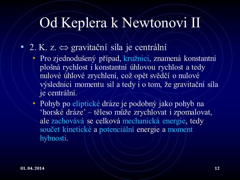01.04. 201412 Od Keplera k Newtonovi II 2. K. z.