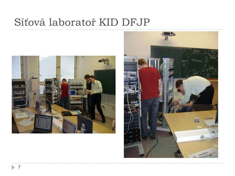 Síťová laboratoř KID DFJP 7