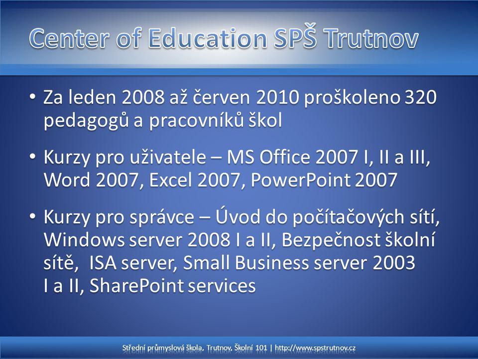 Za leden 2008 až červen 2010 proškoleno 320 pedagogů a pracovníků škol Za leden 2008 až červen 2010 proškoleno 320 pedagogů a pracovníků škol Kurzy pr