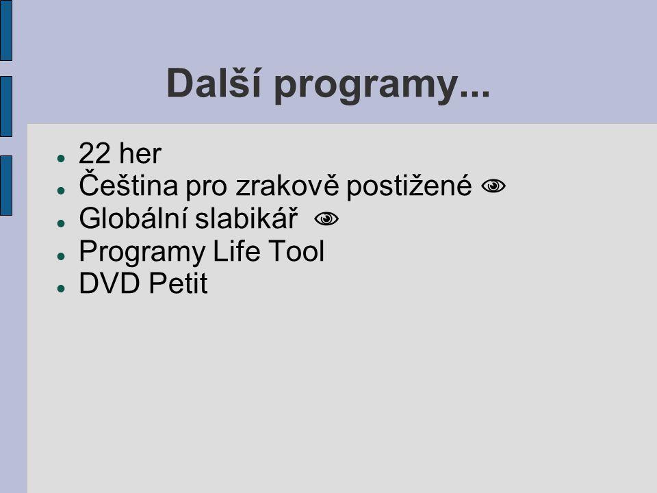 Programy pro ovládání PC JetVoice alternativní ovládání počítačeí pomocí hlasu (zvuku).