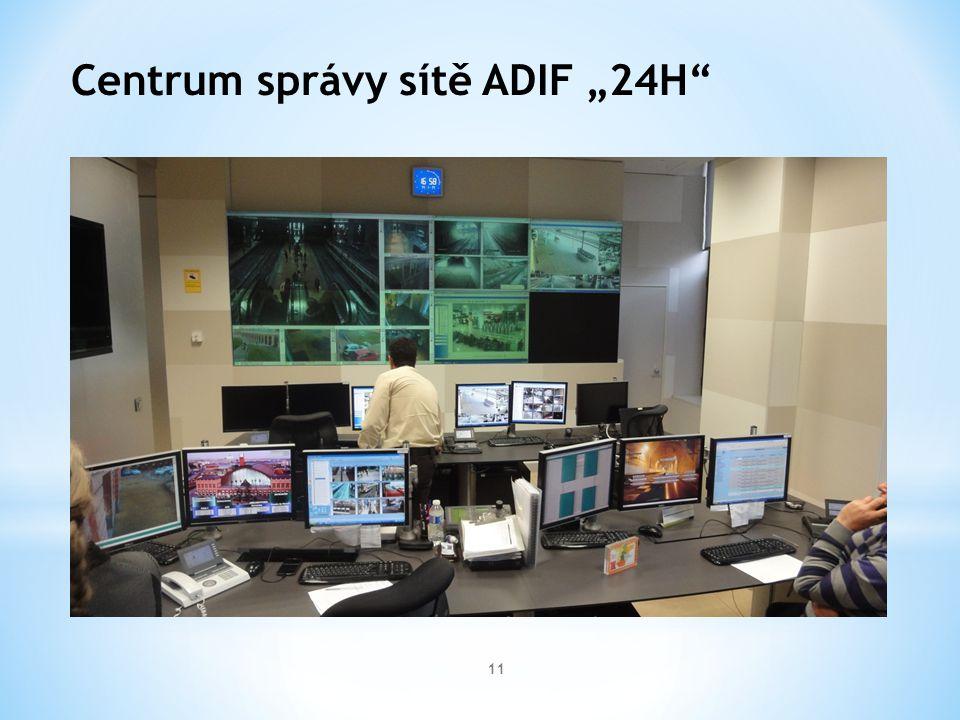"""11 Centrum správy sítě ADIF """"24H"""""""