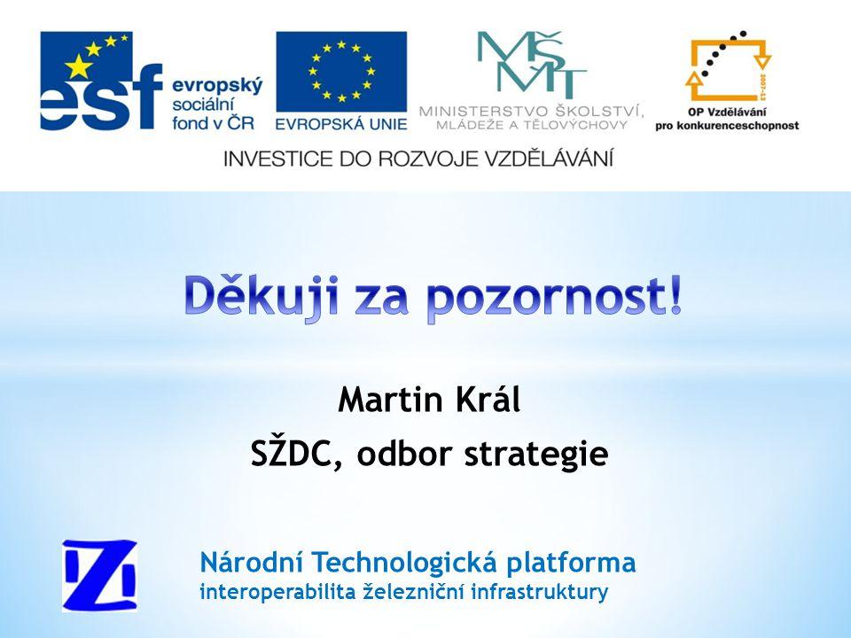 Martin Král SŽDC, odbor strategie Národní Technologická platforma interoperabilita železniční infrastruktury