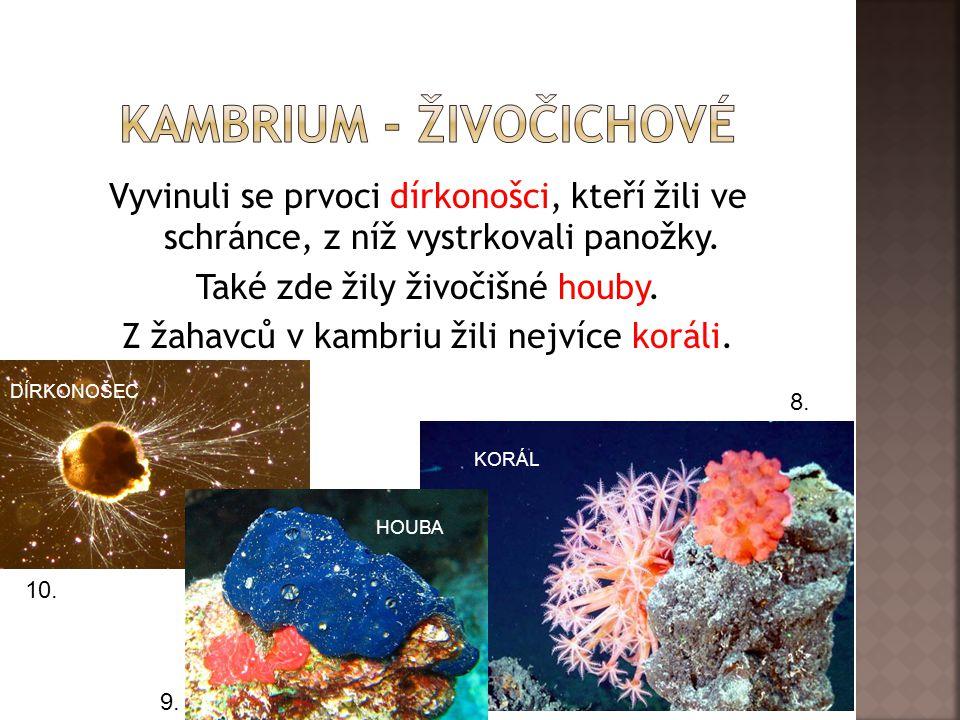 1.Karbonská ……. obojživelníků, Devonská ……. vodních čelistnatců.