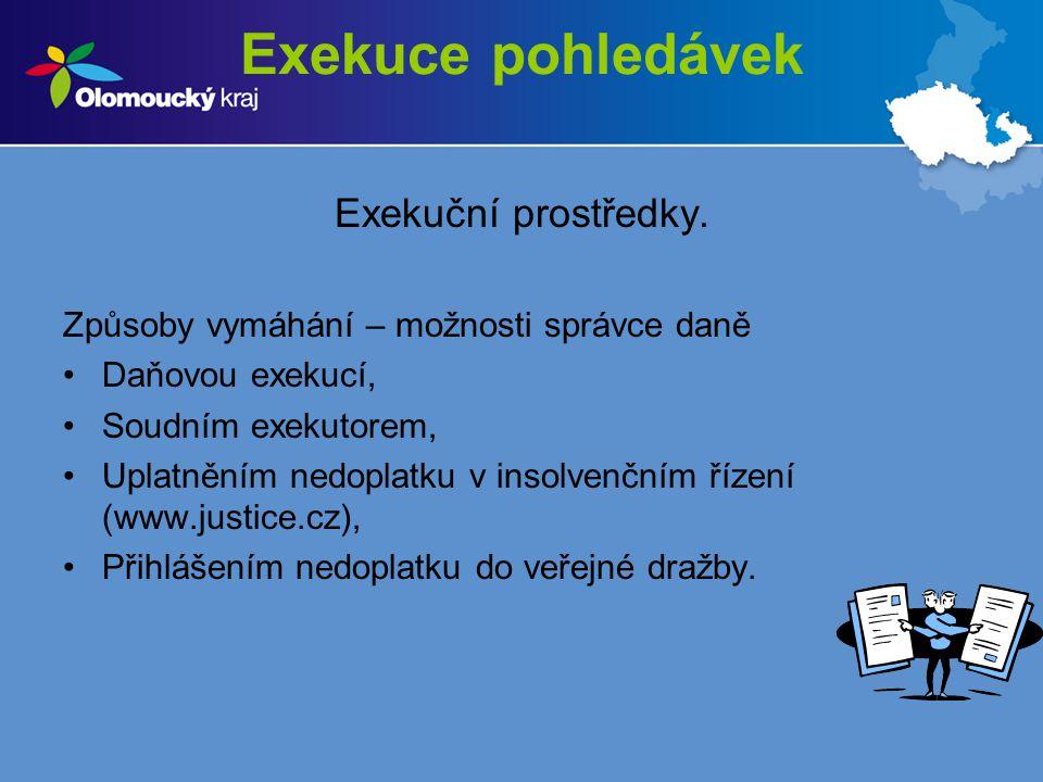 Exekuce pohledávek Exekuční prostředky.§ 5 odst.