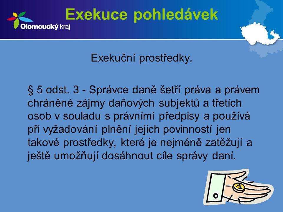 Exekuce pohledávek Exekuční prostředky.§ 7 odst.