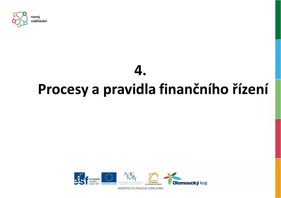 4. Procesy a pravidla finančního řízení