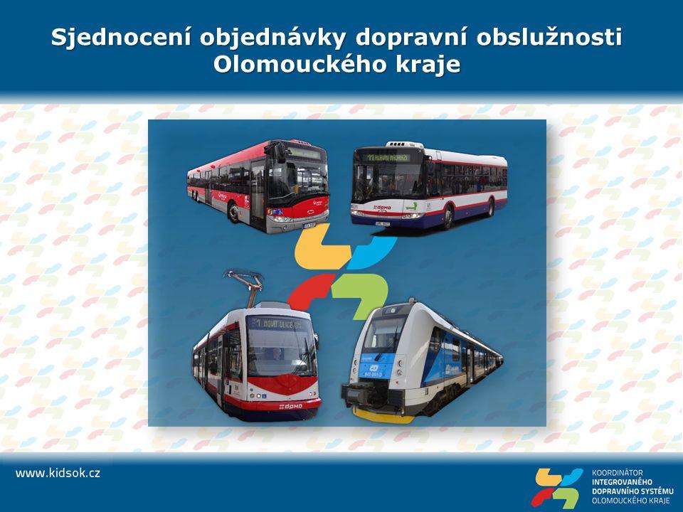 Sjednocení objednávky dopravní obslužnosti Olomouckého kraje