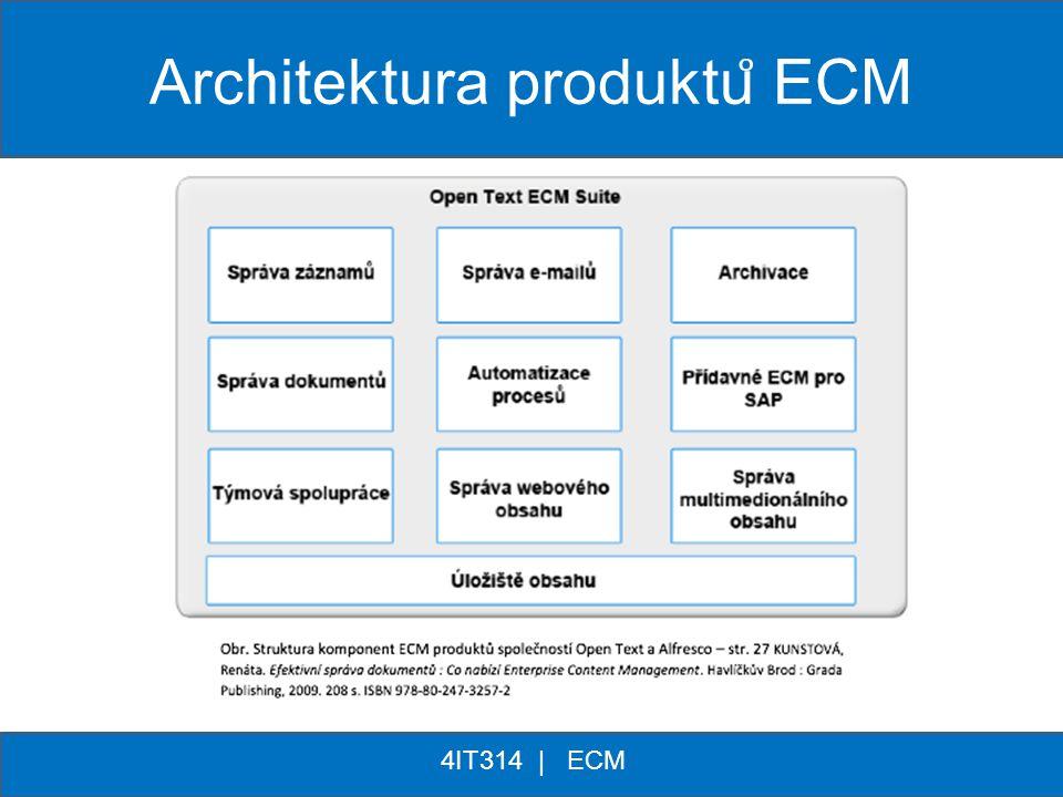 ** 4IT314 | ECM Architektura produktu ̊ ECM