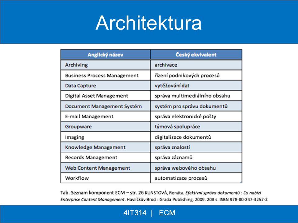 ** 4IT314 | ECM Architektura