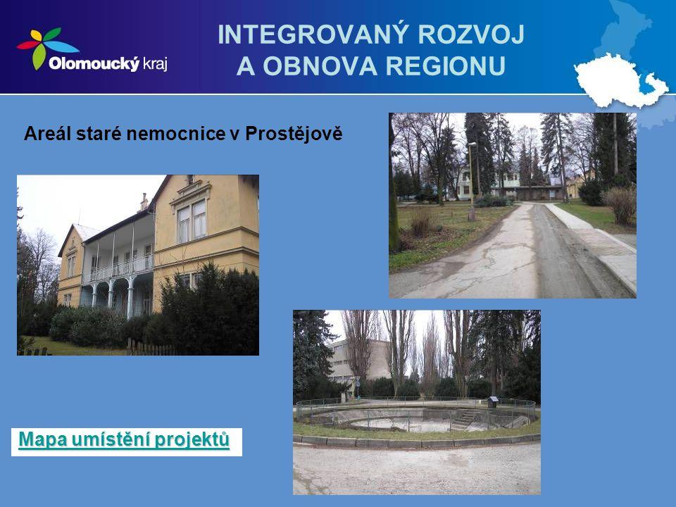 INTEGROVANÝ ROZVOJ A OBNOVA REGIONU Mapa umístění projektů Mapa umístění projektů Areál staré nemocnice v Prostějově
