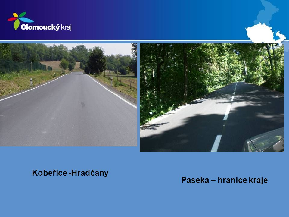 DOPRAVA – projekty kraje projekty ve schvalovacím řízení: 17.Silnice Újezd u Uničova – průtah: 36 mil.