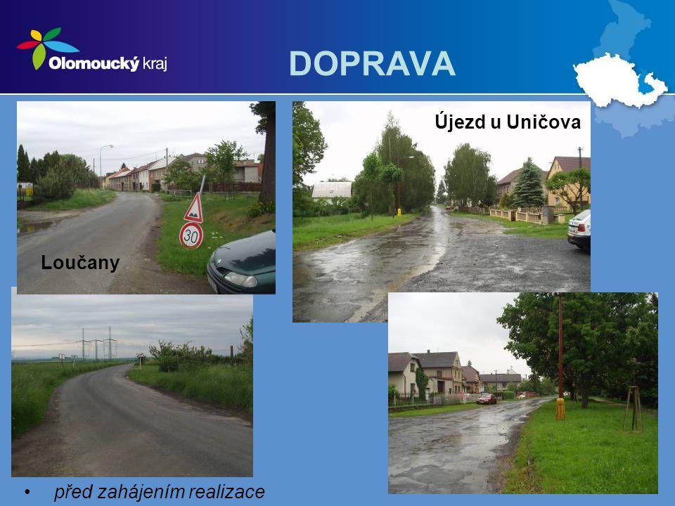 DOPRAVA – projekty příspěvkových organizací (PO) kraje projekty ve schvalovacím řízení: 22.