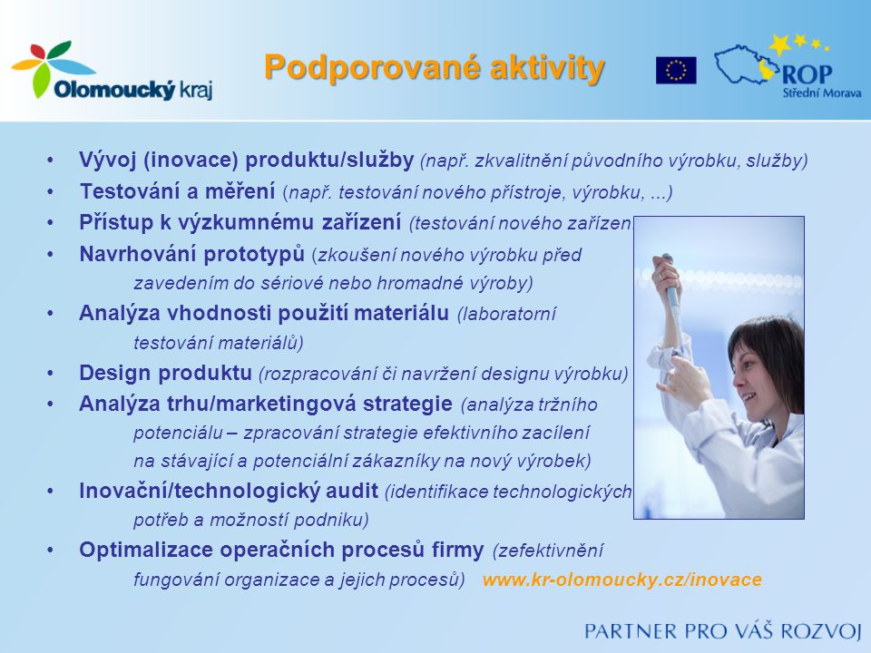 Vývoj (inovace) produktu/služby (např.