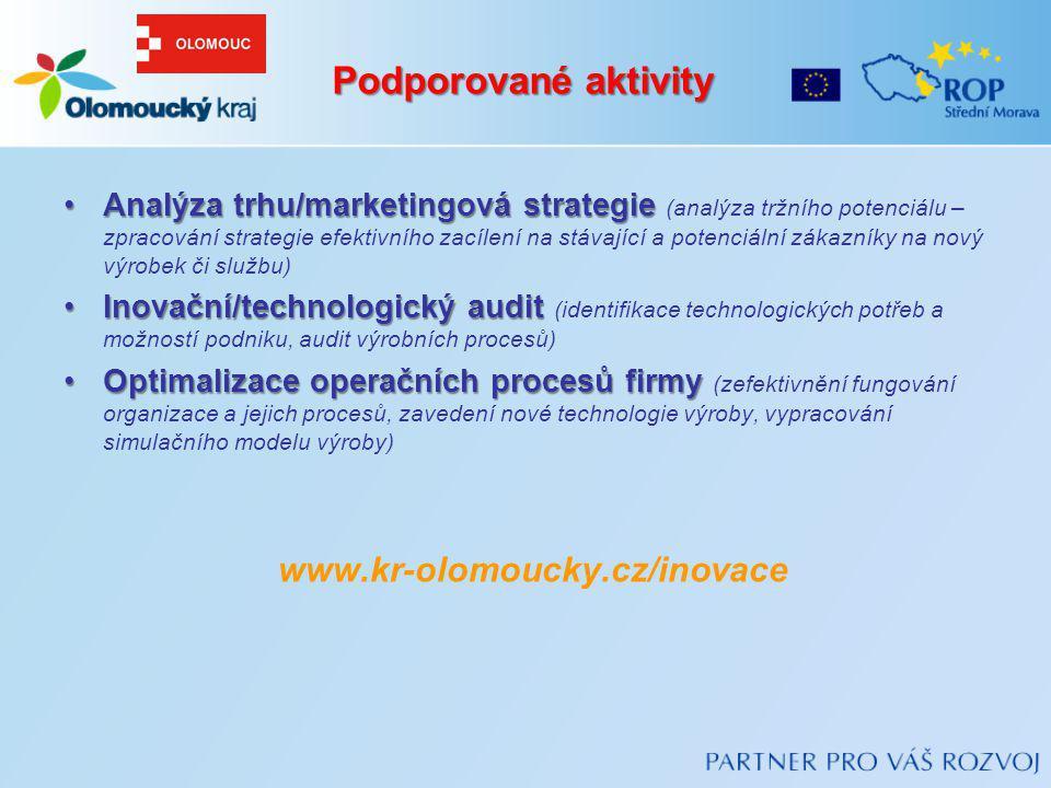 Analýza trhu/marketingová strategieAnalýza trhu/marketingová strategie (analýza tržního potenciálu – zpracování strategie efektivního zacílení na stáv
