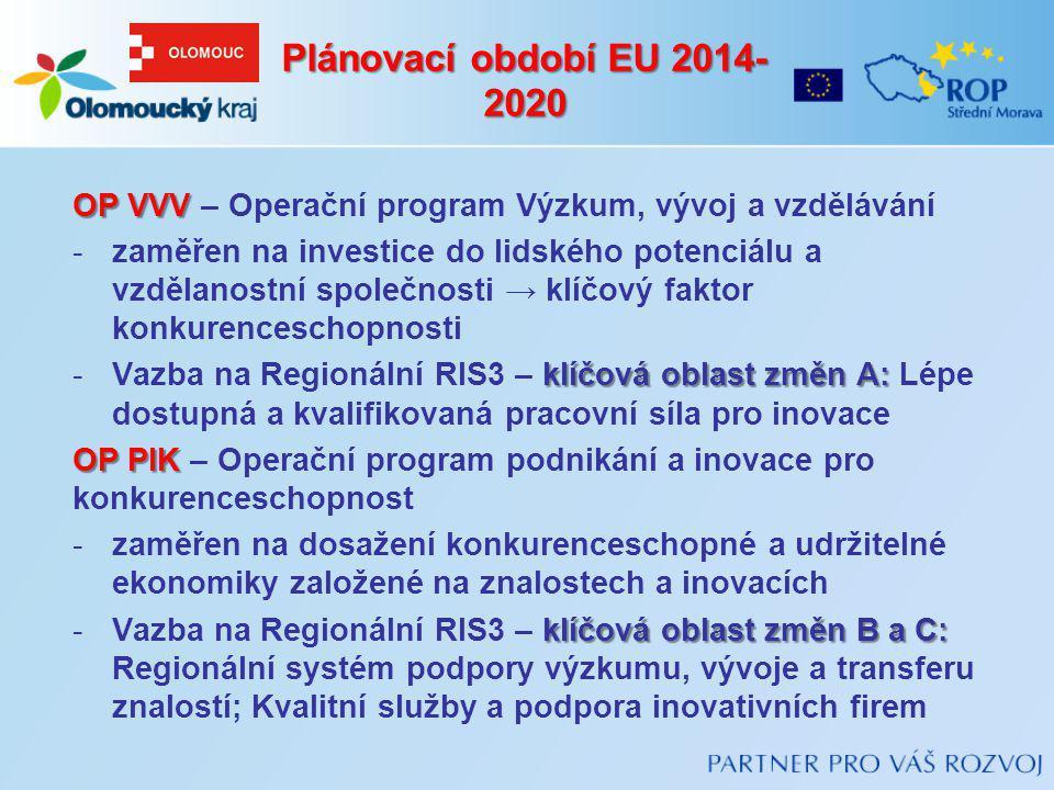 OP VVV OP VVV – Operační program Výzkum, vývoj a vzdělávání -zaměřen na investice do lidského potenciálu a vzdělanostní společnosti → klíčový faktor k