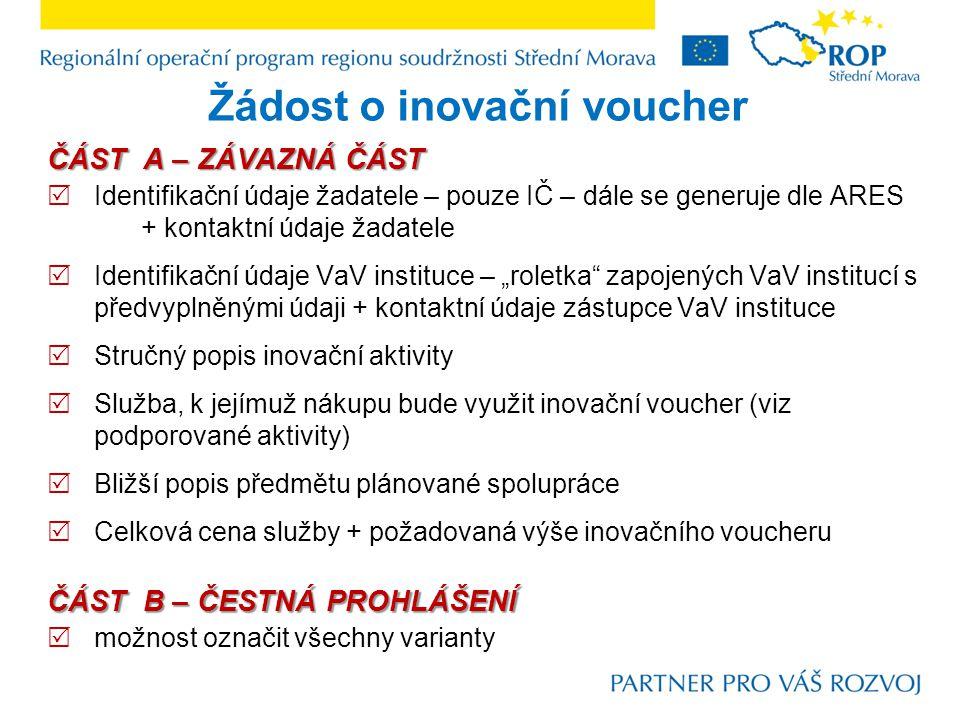  Celková cena služby v souladu s nabídkou VaV instituce max.
