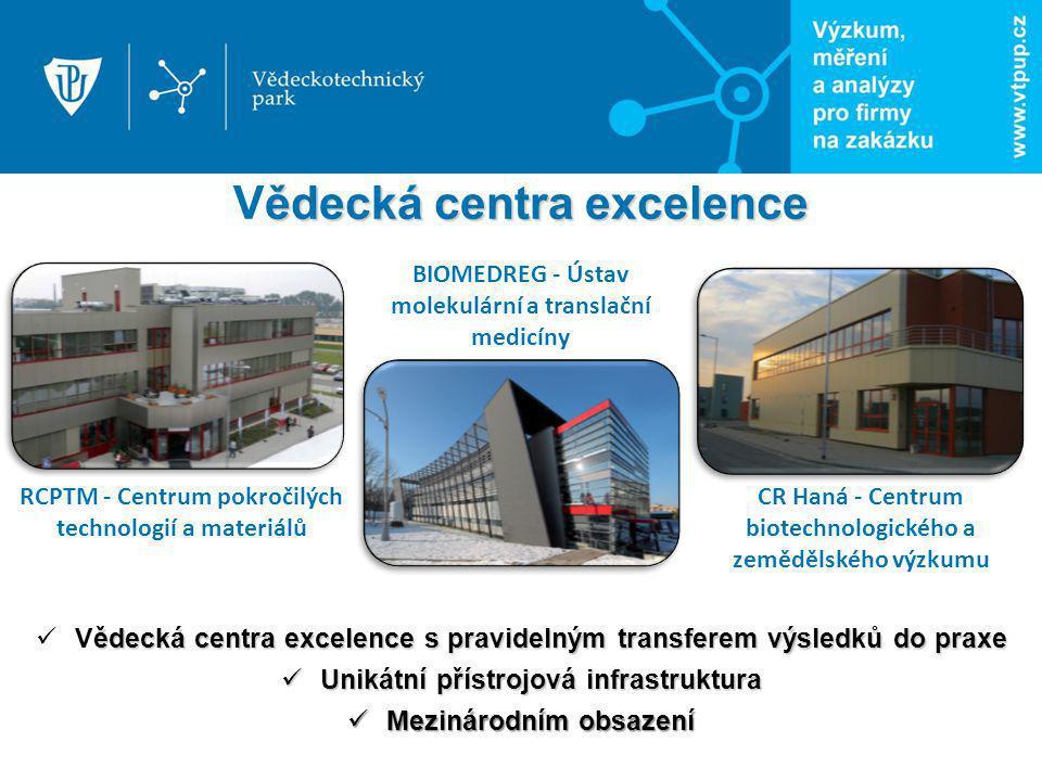 ědecká centra excelence s pravidelným transferem výsledků do praxe Vědecká centra excelence s pravidelným transferem výsledků do praxe Unikátní přístr