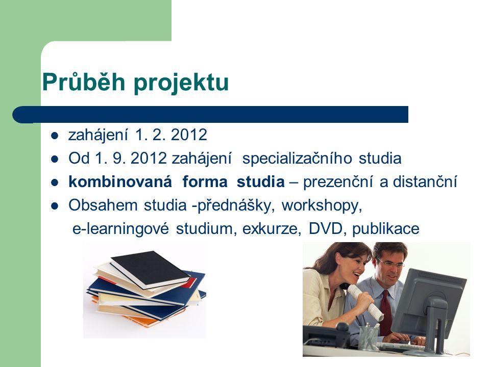 Průběh projektu zahájení 1. 2. 2012 Od 1. 9.