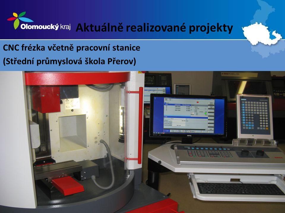 Aktuálně realizované projekty CNC frézka včetně pracovní stanice (Střední průmyslová škola Přerov)