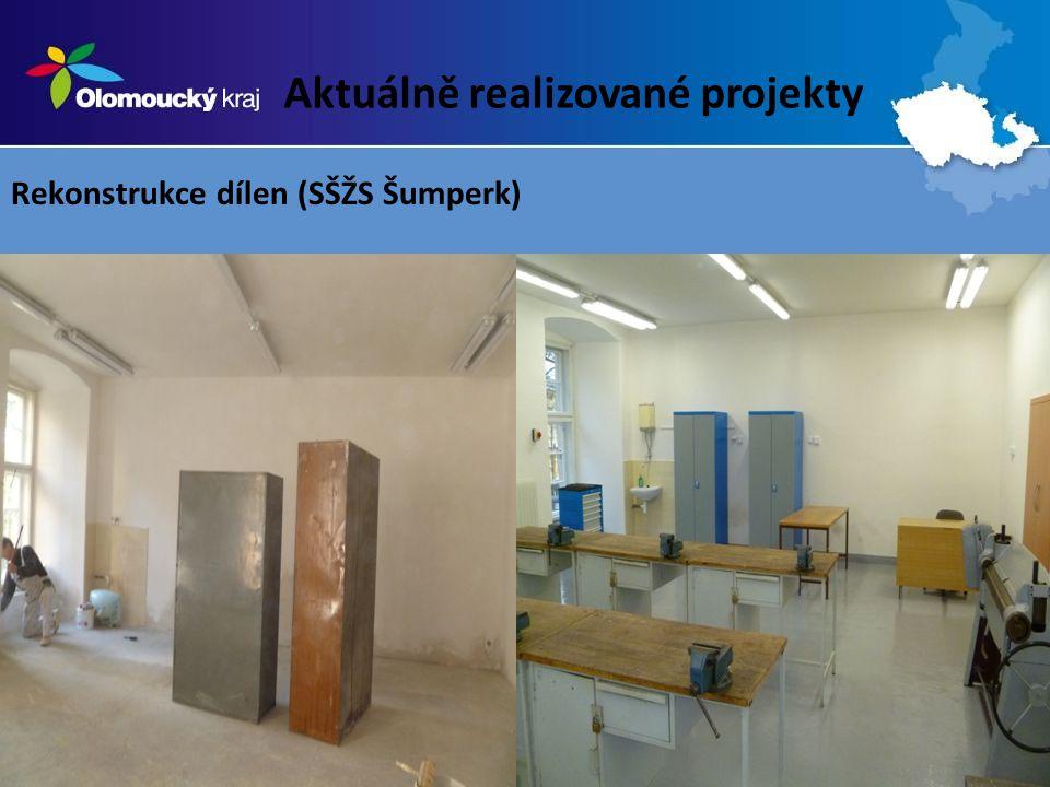 Aktuálně realizované projekty Rekonstrukce dílen (SŠŽS Šumperk)