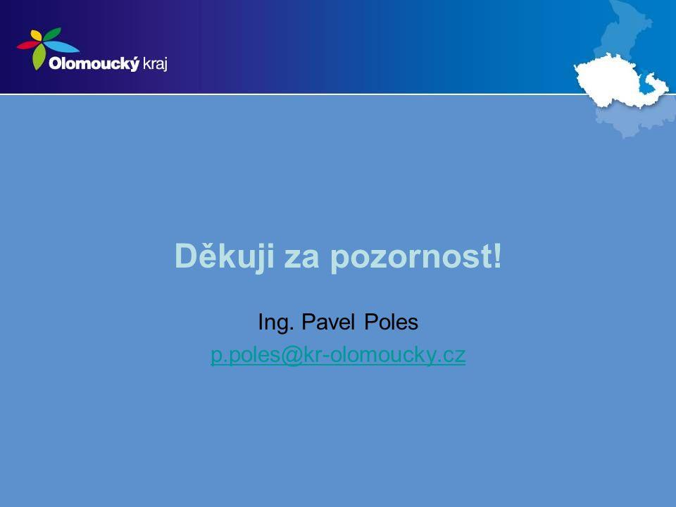 Děkuji za pozornost! Ing. Pavel Poles p.poles@kr-olomoucky.cz