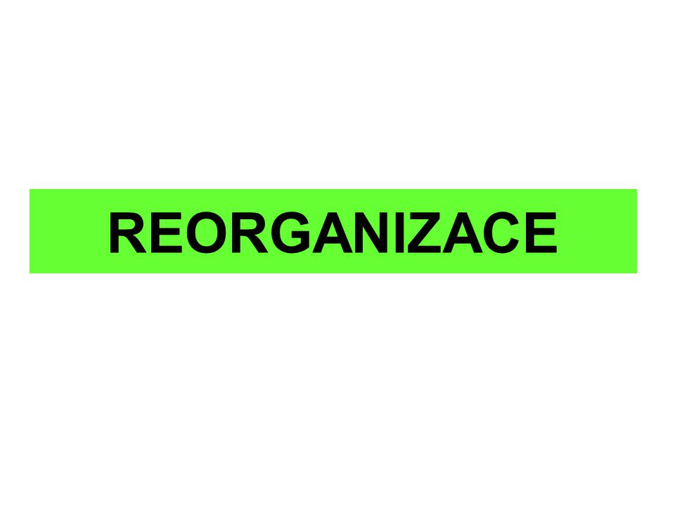 Definice reorganizace (§ 316 – 364) § 316 (1) Reorganizací se rozumí zpravidla postupné uspokojování pohledávek věřitelů při zachování provozu dlužníkova podniku, zajištěné opatřeními k ozdravění hospodaření tohoto podniku podle insolvenčním soudem schváleného reorganizačního plánu s průběžnou kontrolou jeho plnění ze strany věřitelů.