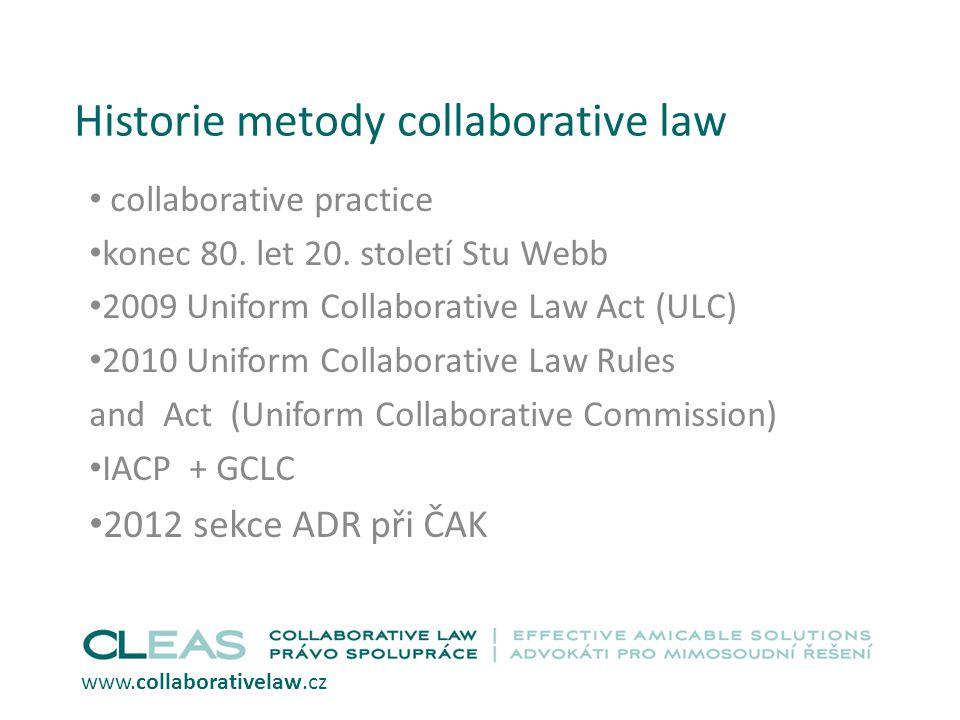 Historie metody collaborative law collaborative practice konec 80.