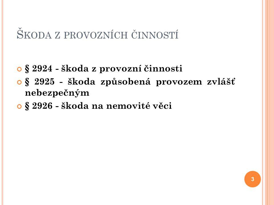 Š KODA NA ODLOŽENÉ I VNESENÉ VĚCI § 2945 odst.2 § 2949 odst.