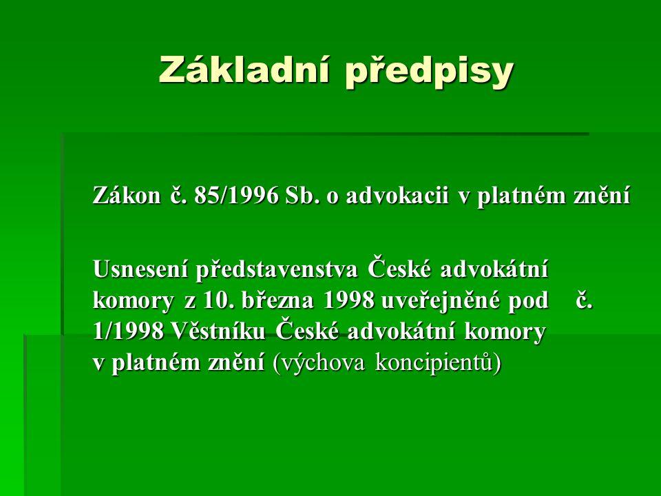 Základní předpisy Zákon č.85/1996 Sb.