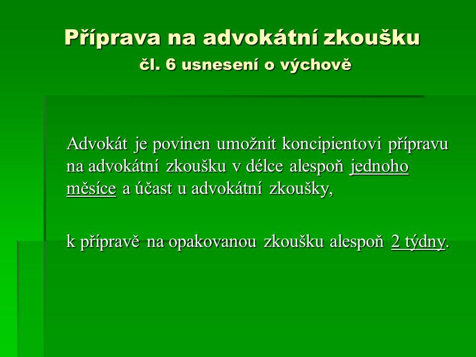 Příprava na advokátní zkoušku čl.