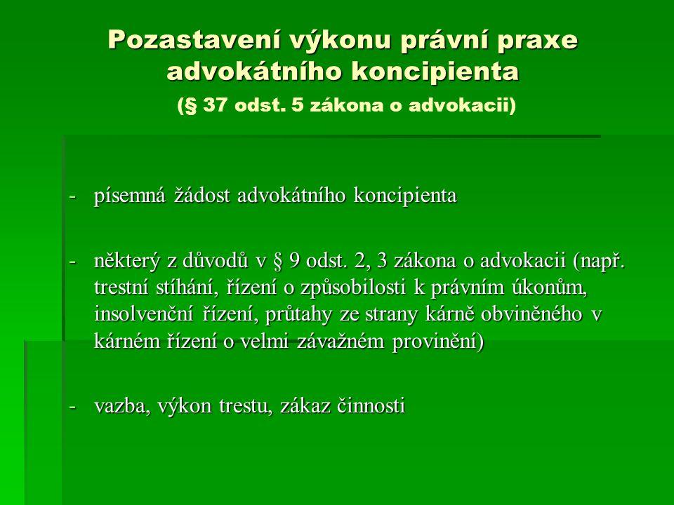 Vyloučená substituce čl.
